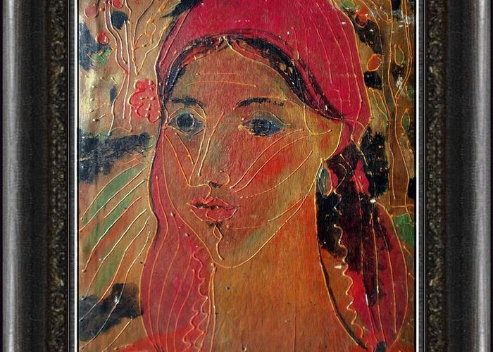 People Greeting Card featuring the painting Woman by Ivan Filchev