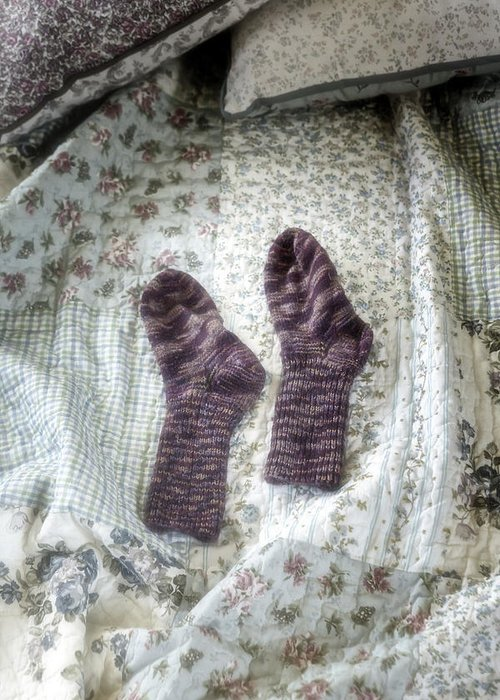 Hand-knitted Greeting Card featuring the photograph Woollen Socks by Joana Kruse