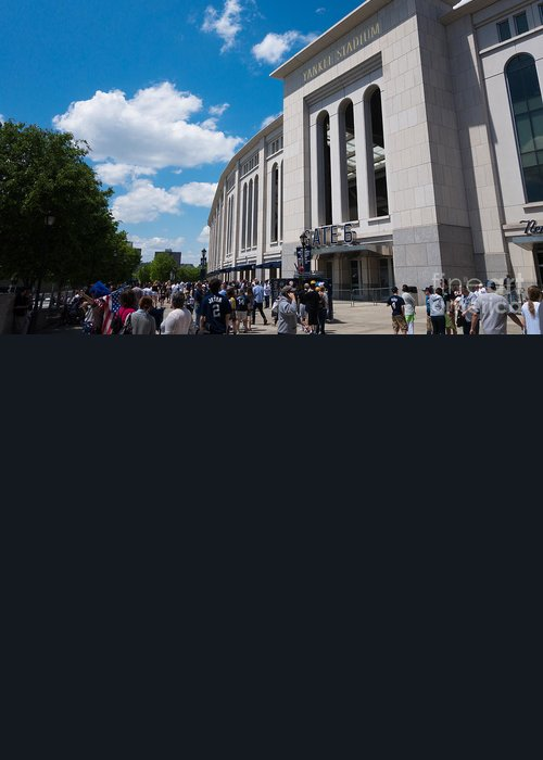 Baseball Greeting Card featuring the photograph Yankee Stadium by Amy Cicconi