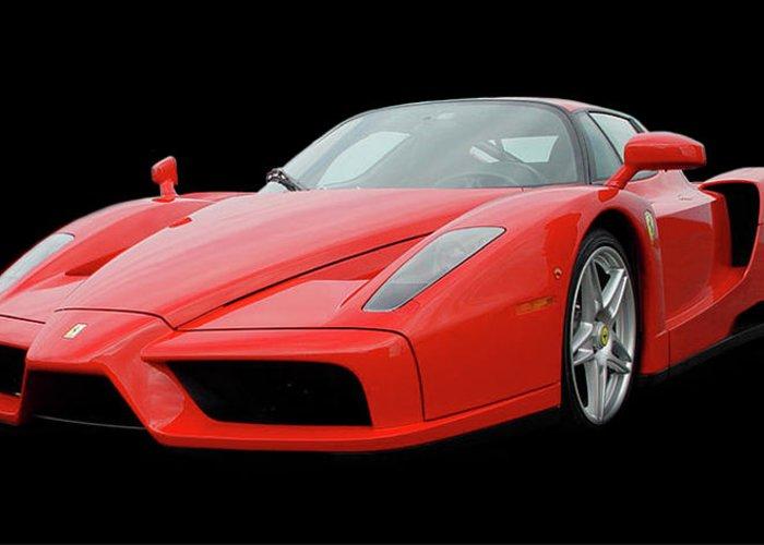 2004 Ferrari Enzo Greeting Card featuring the photograph 2002 Enzo Ferrari 400 by Jack Pumphrey