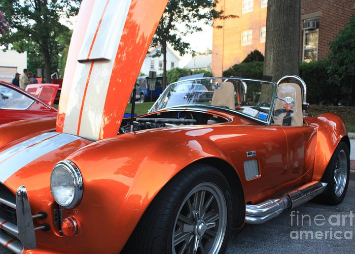 2009 Cobra Front And Side View Greeting Card featuring the photograph 2009 Cobra Front And Side View by John Telfer