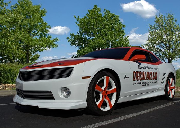 2010 Greeting Card featuring the photograph 2010 Camaro Indy Pace Car by Tim McCullough