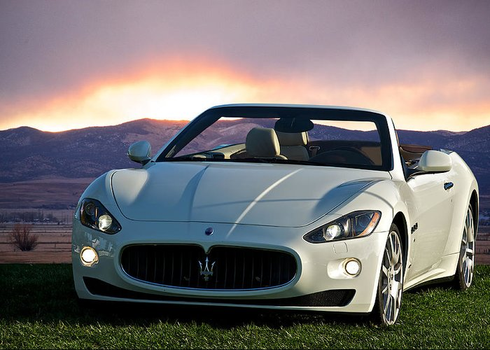 Auto Greeting Card featuring the photograph 2011 Maserati Gran Turismo Convertible I by Dave Koontz