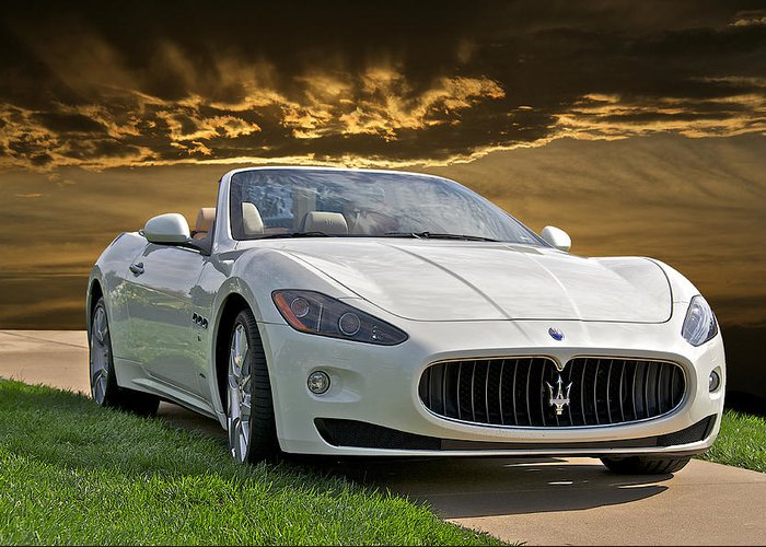 Auto Greeting Card featuring the photograph 2011 Maserati Gran Turismo Convertible II by Dave Koontz