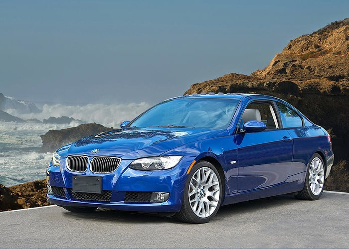 Auto Greeting Card featuring the photograph 2013 Bmw 328i Sports Coupe by Dave Koontz