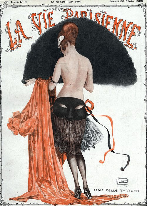 1920�s Greeting Card featuring the drawing La Vie Parisienne 1920 1920s France by The Advertising Archives