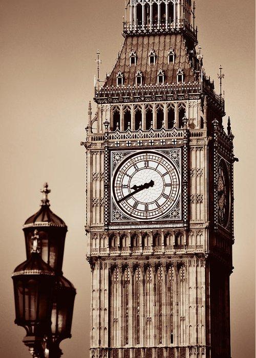 London Greeting Card featuring the photograph Big Ben Closeup by Songquan Deng