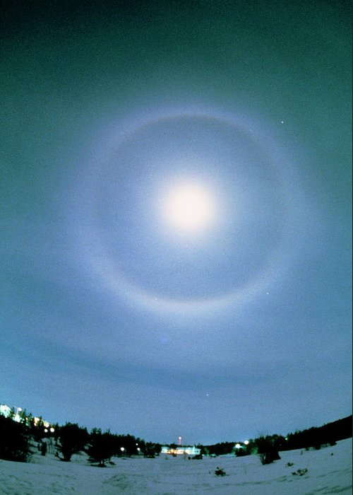 22 Degree Halo Greeting Cards
