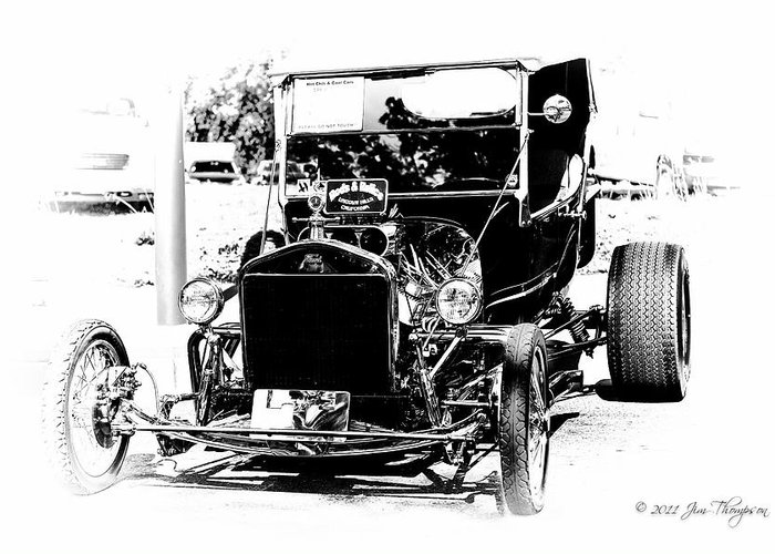 Motor Vehicles Greeting Card featuring the photograph 23 Ford by Jim Thompson
