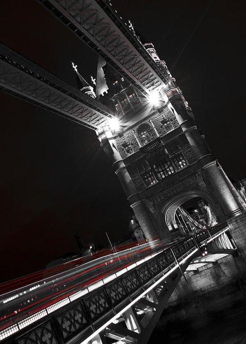 Tower Bridge Greeting Card featuring the photograph Tower Bridge London by David Pyatt