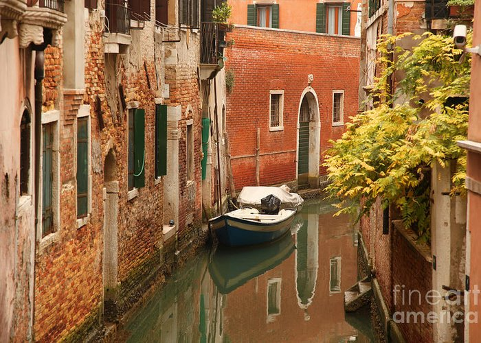 Venice Greeting Card featuring the photograph Venice In Italy by Tomas Marek
