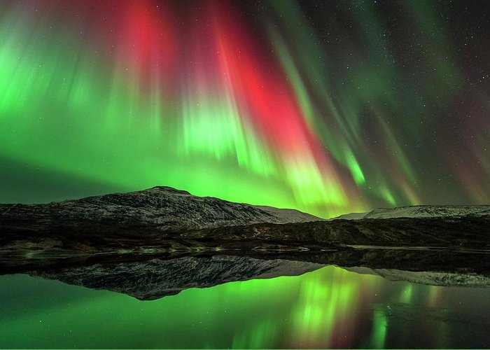 Nobody Greeting Card featuring the photograph Aurora Borealis by Tommy Eliassen