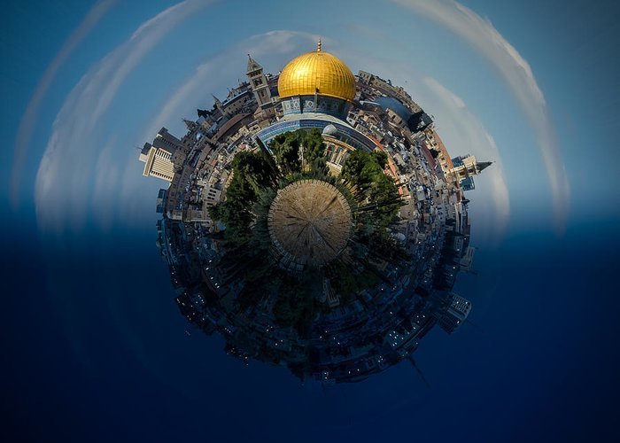 24 Hours In Jerusalem Greeting Card featuring the photograph 24 Hours In Jerusalem by David Morefield