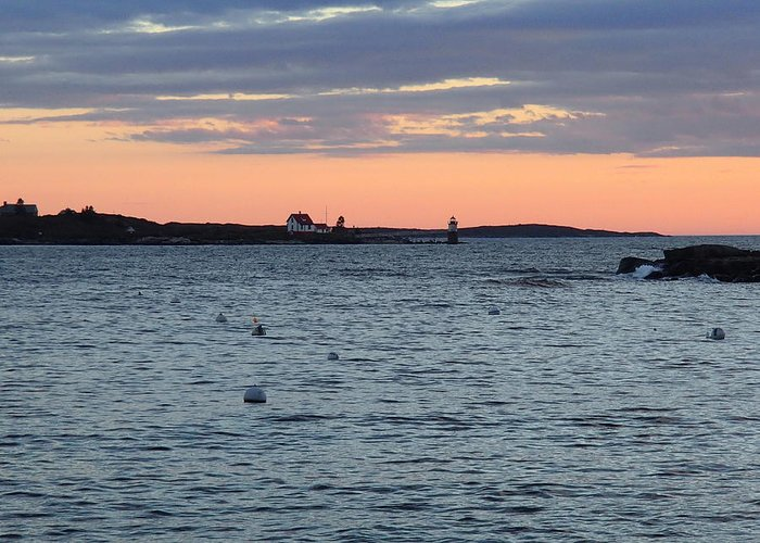 Greeting Card featuring the photograph Maine Seascapes by Frank Roma