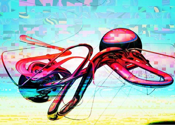 Abstract Greeting Card featuring the digital art Abstract by Bogdan Floridana Oana