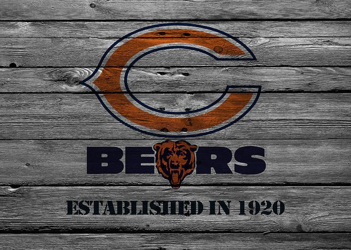 Bears Greeting Card featuring the photograph Chicago Bears by Joe Hamilton