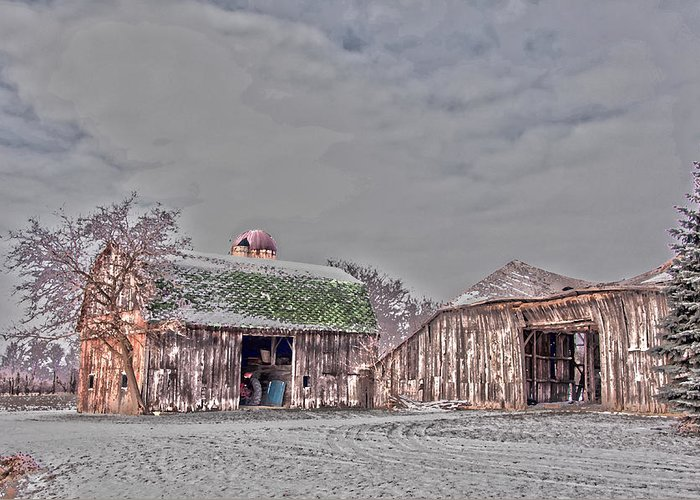 Barn Greeting Card featuring the photograph 29 Mile Road Barn by Ginger Harris
