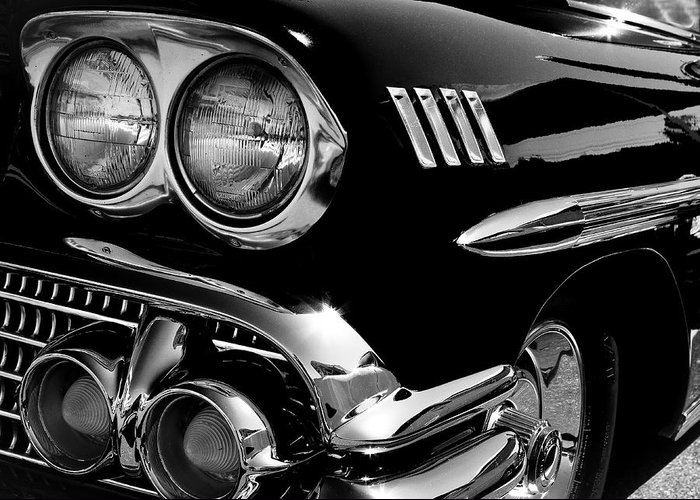 58 Greeting Card featuring the photograph 1958 Chevy Impala by David Patterson