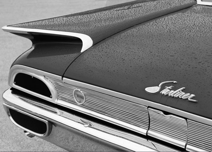 1960 Ford Galaxie Starliner Taillight Emblem Greeting Card featuring the photograph 1960 Ford Galaxie Starliner Taillight Emblem by Jill Reger