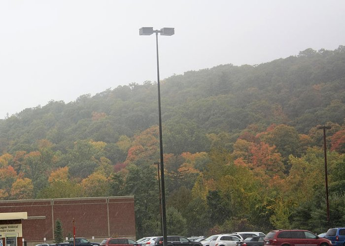 Autumn Foliage Greeting Card featuring the photograph A Foggy Autumn Day At The United States Military Academy by James Connor