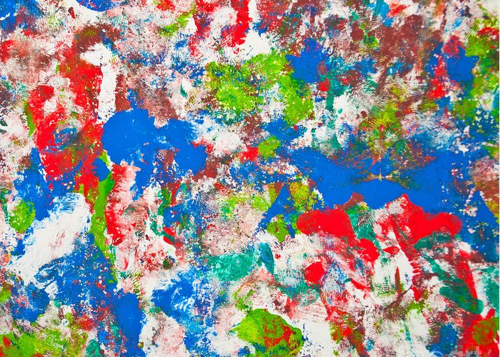 Art Greeting Card featuring the photograph Abstract Colorful Painting Background by Aleksandar Mijatovic
