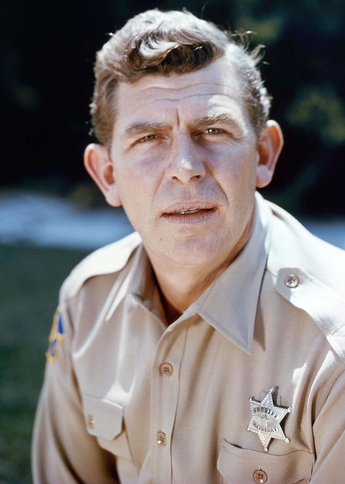 The Andy Griffith Show Greeting Card featuring the photograph Andy Griffith In The Andy Griffith Show by Silver Screen