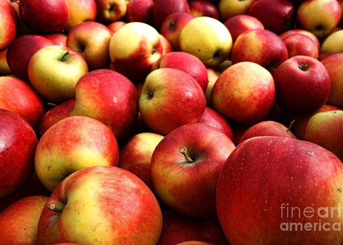 Apple Greeting Card featuring the photograph Apples by Olivier Le Queinec