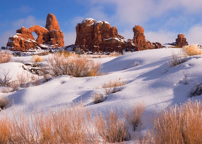Turret Arch Greeting Card featuring the photograph Arches National Park by Utah Images