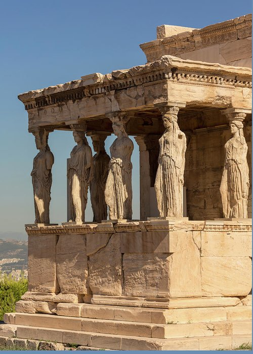Photography Greeting Card featuring the photograph Athens, Attica, Greece. Porch by Panoramic Images