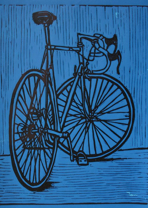 Bike Greeting Card featuring the drawing Bike 4 by William Cauthern