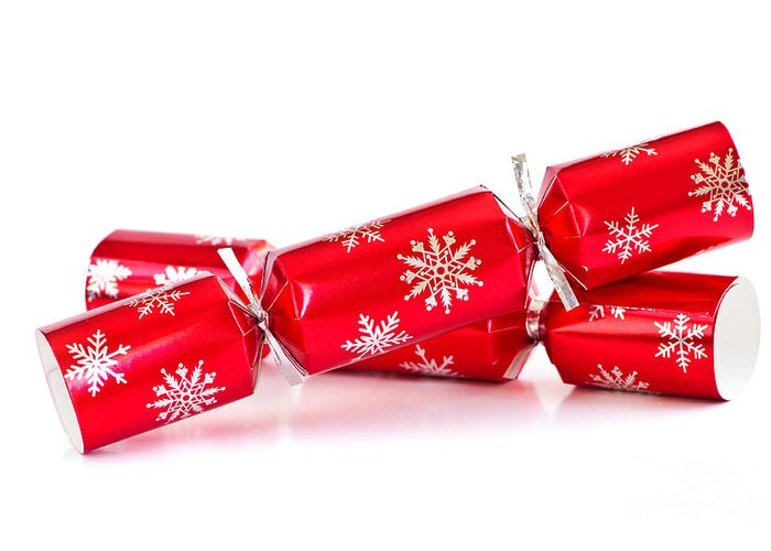 Christmas Greeting Card featuring the photograph Christmas Crackers by Elena Elisseeva