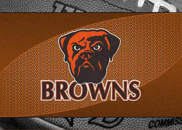 Browns Greeting Card featuring the photograph Cleveland Browns by Joe Hamilton
