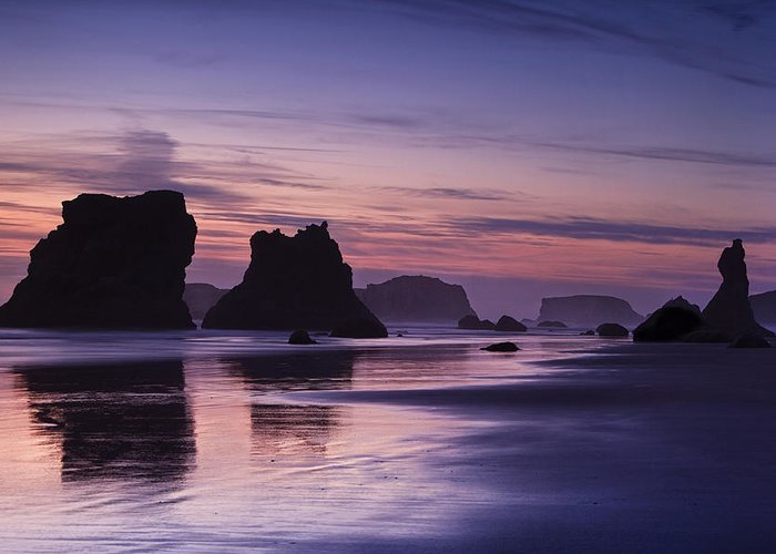 Beach Greeting Card featuring the photograph Coastal Reflections by Andrew Soundarajan