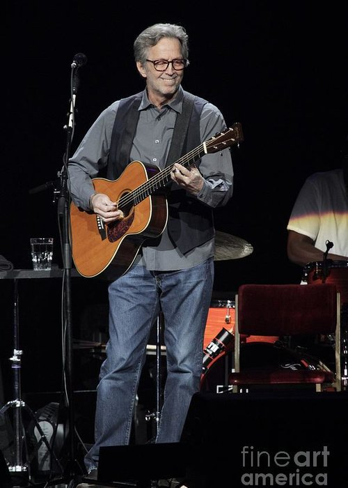 Eric Clapton Greeting Card featuring the photograph Eric Clapton by Concert Photos
