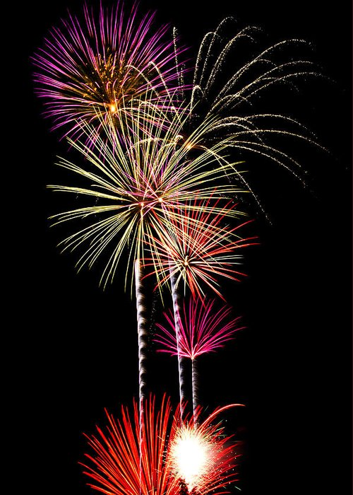 July 4th Greeting Card featuring the photograph Fireworks by Saija Lehtonen
