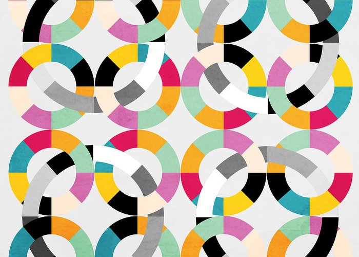 Contemporary Greeting Card featuring the painting Geometric by Mark Ashkenazi