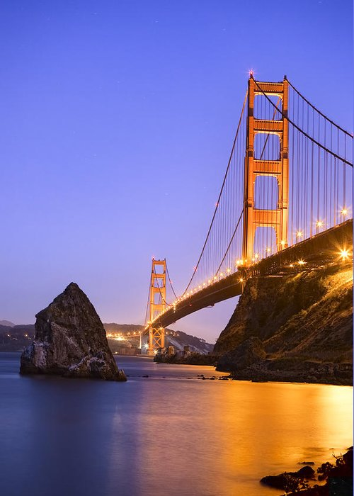Field Greeting Card featuring the photograph Golden Gate Bridge by Emmanuel Panagiotakis
