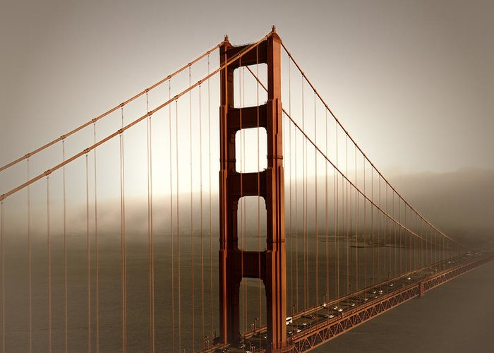 America Greeting Card featuring the photograph Lovely Golden Gate Bridge by Melanie Viola