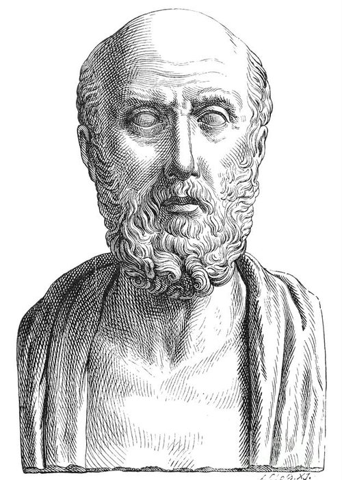 4th Century B.c Greeting Card featuring the photograph Hippocrates (c460-c377 B.c.) by Granger