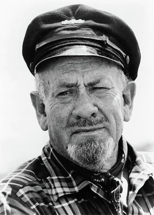1966 Greeting Card featuring the photograph John Steinbeck (1902-1968) by Granger