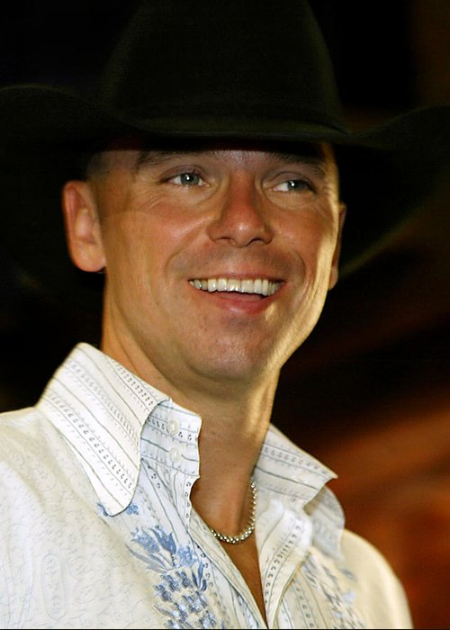 Don Olea Greeting Card featuring the photograph Kenny Chesney by Don Olea