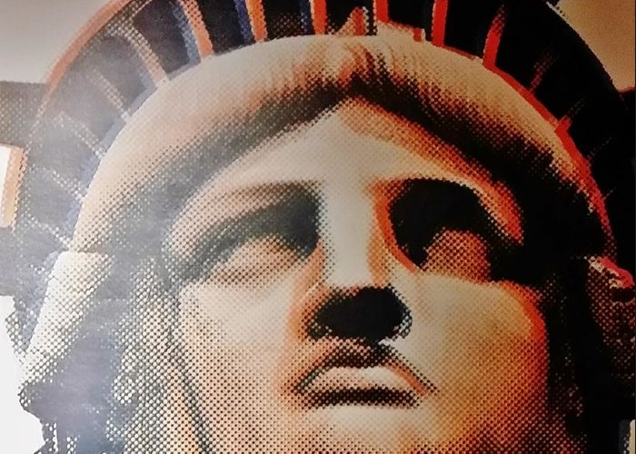 Statue Of Liberty Greeting Card featuring the photograph Lady Liberty by Rob Hans