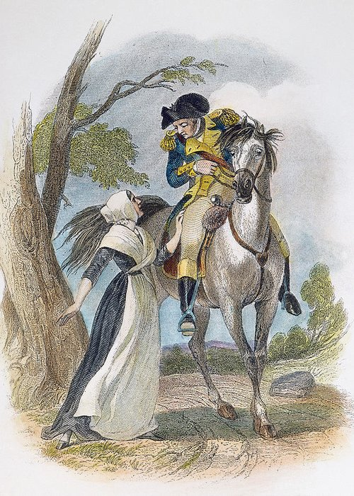1777 Greeting Card featuring the photograph Lydia Darrah, 1777 by Granger