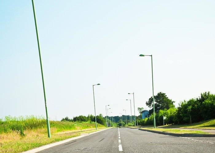 Asphalt Greeting Card featuring the photograph Modern Road by Tom Gowanlock