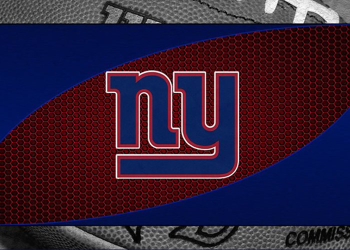 Giants Greeting Card featuring the photograph New York Giants by Joe Hamilton