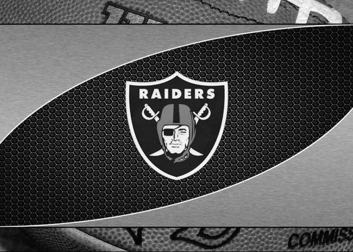 Raiders Greeting Card featuring the photograph Oakland Raiders by Joe Hamilton