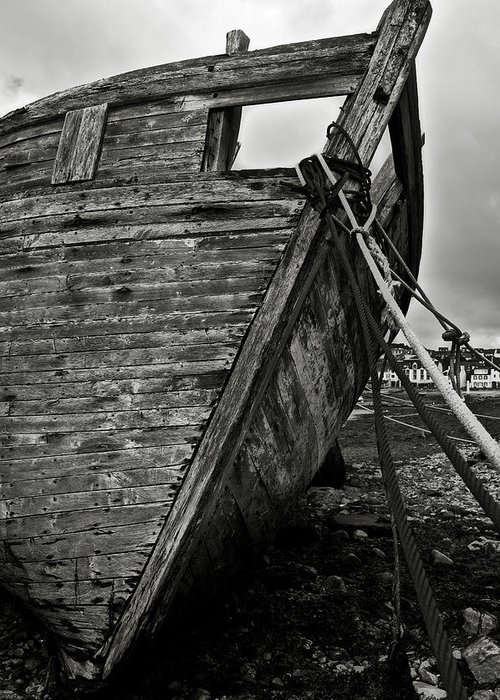 Old Greeting Card featuring the photograph Old Abandoned Ship by RicardMN Photography