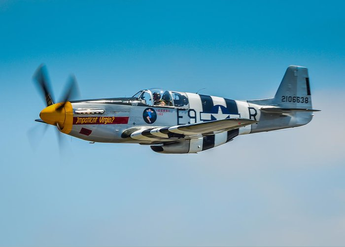 Tags: P51 Photographs Greeting Card featuring the photograph P-51 Mustang by Puget Exposure