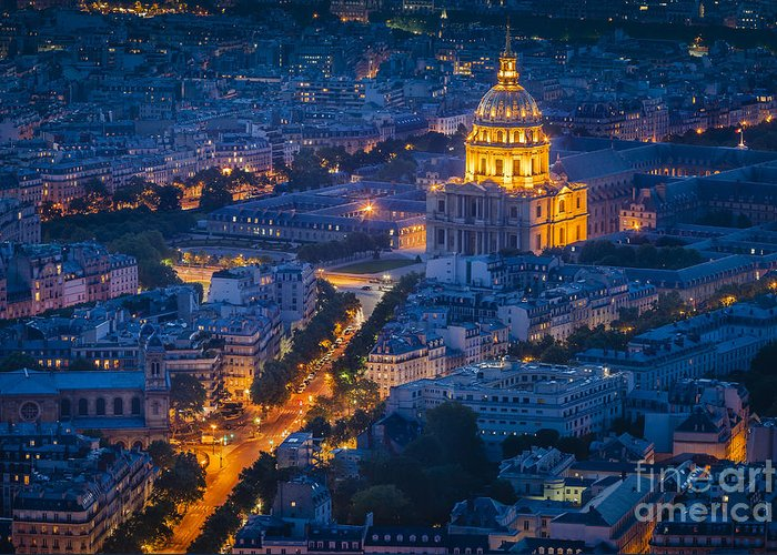 Buildings Greeting Card featuring the photograph Paris Overhead by Brian Jannsen