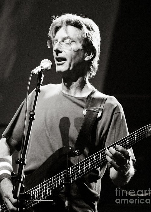 Phil Greeting Card featuring the photograph Phil Lesh by Chuck Spang
